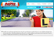 Acme Driving School Small Business website