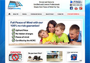 Adams Carpet Cleaning Small Business website