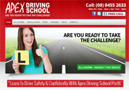 Apex Driving School Small Business website