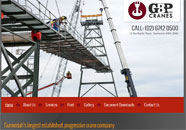 GBP Cranes Small Business website