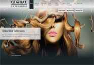 Global Hair Extensions Small Business website